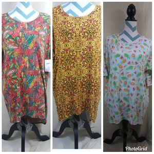 Lot of 3 LuLaRoe Size Medium Women Irma Tunic Tops